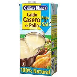Caldo Casero Pollo Bajo en Sal 100% Natural. GALLINA BLANCA 1 LITRO - A Spanish Bite