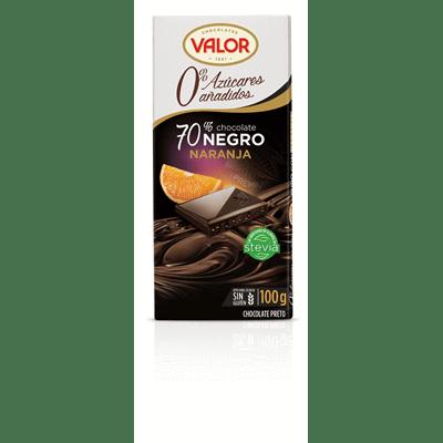 Chocolate Negro 70% con naranja sin azúcar VALOR - A Spanish Bite