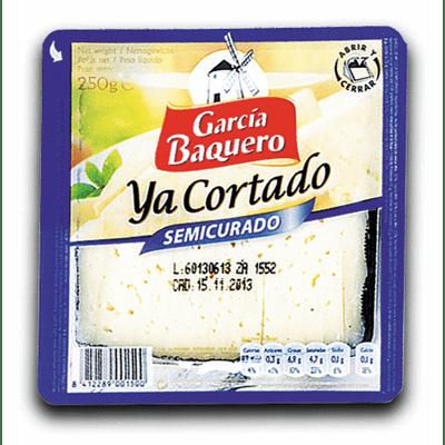 Queso semicurado GARCÍA BAQUERO  Cortado. Cuña 250 gr aprox - A Spanish Bite