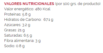 Chaskis FACUNDO- 100 gr - A Spanish Bite