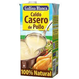 Caldo Casero Pollo 100% Natural. GALLINA BLANCA 1 LITRO - A Spanish Bite