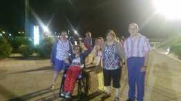 Isa, Nabila, Mª José, Trini y Paco