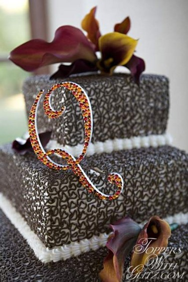 Something Sparkling Blinged Out Cake Toppers