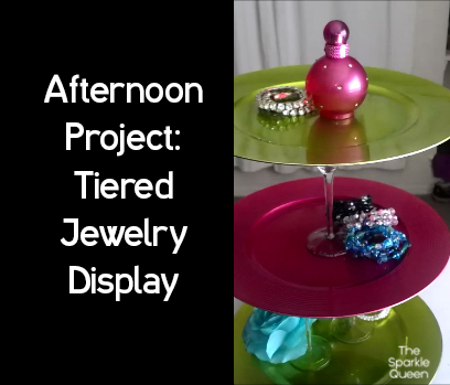 DIY Tiered Jewelry Display by The Sparkle Queen