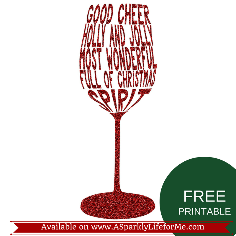 Free Levels of Christmas Spirit Wine Glass Printable by A Sparkly Life for Me (1)