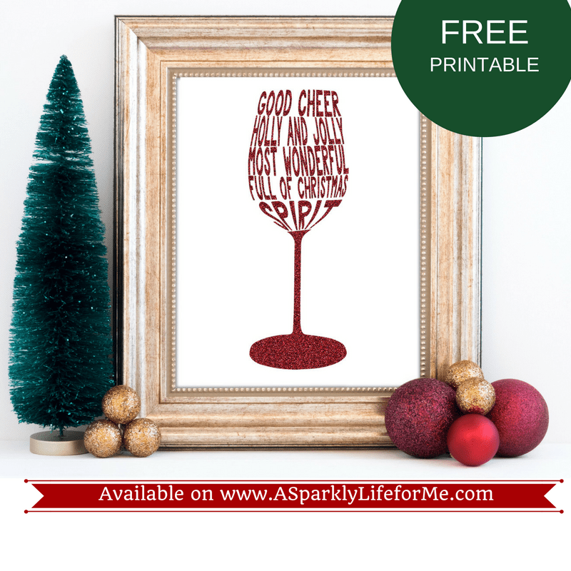 Sample Decor with my Free Levels of Christmas Spirit Printable