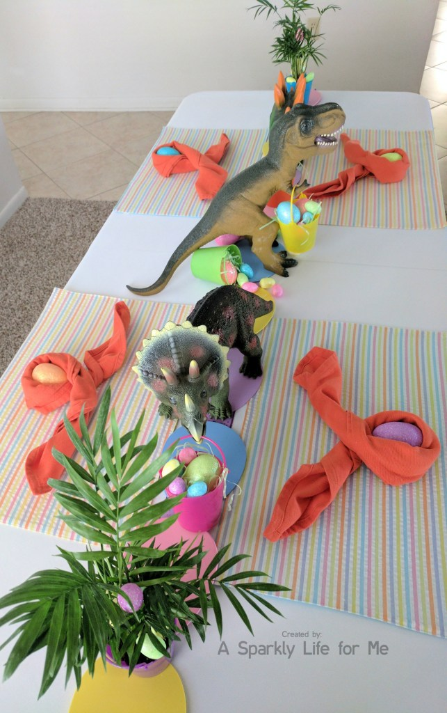 Dinosaur Easter Egg Hunt Table Decor