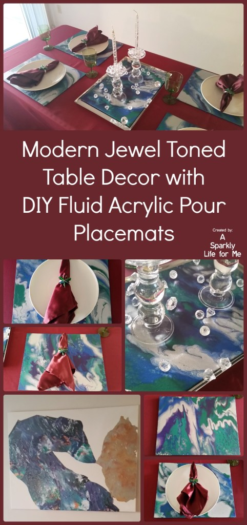 Modern Marbled Jewel Toned Table Decor