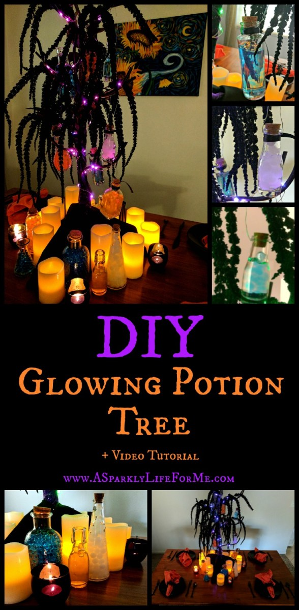 Glowing Potion Tree Table Decor and Video Tutorial