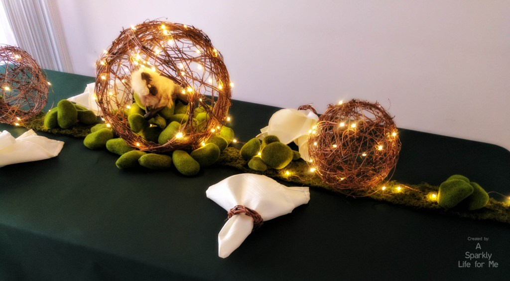 Enchanted Garden Table Decor and Centerpiece with DIY Tutotiral – by A Sparkly Life for Me
