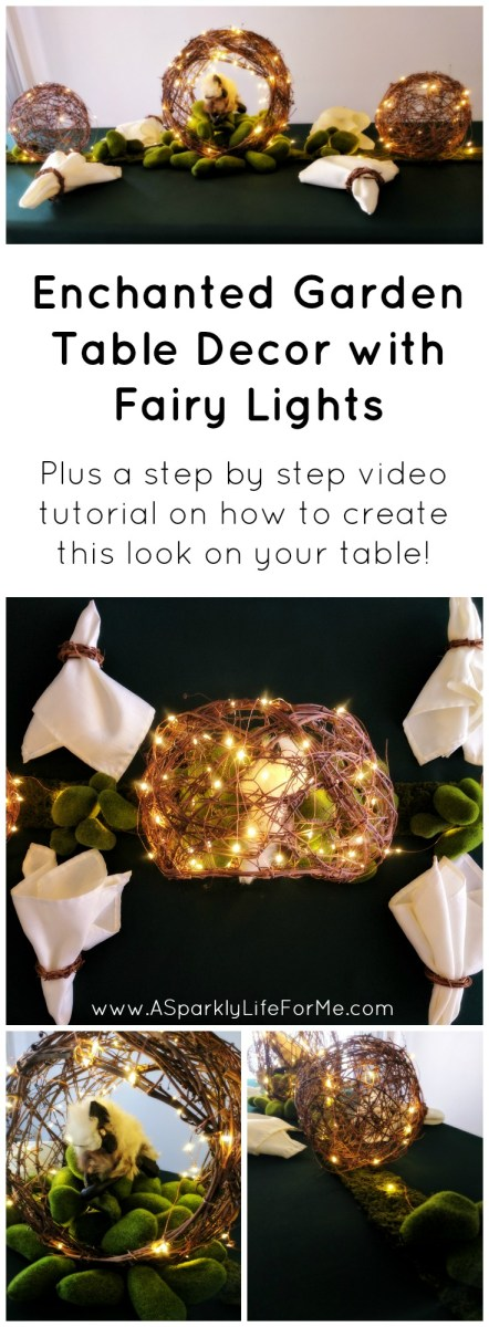 DIY Enchanted Garden Table Decor with Fairy Lights