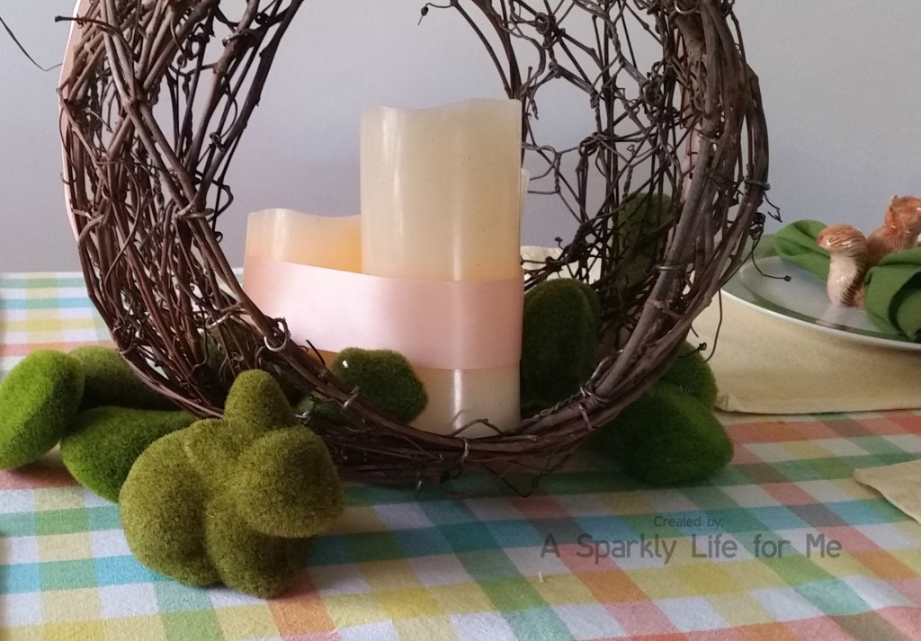 DIY Grapevine LED Candle Centerpiece – by A Sparkly Life for Me