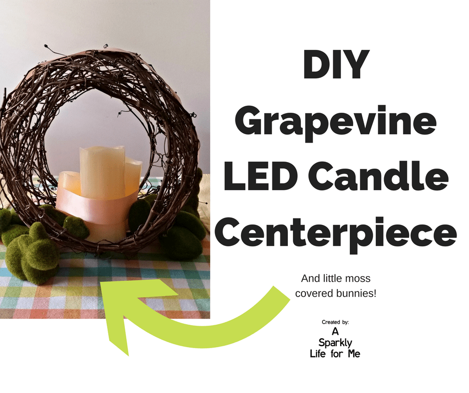 DIY Grapevine LED Candle Centerpiece by A Sparkly Life for Me