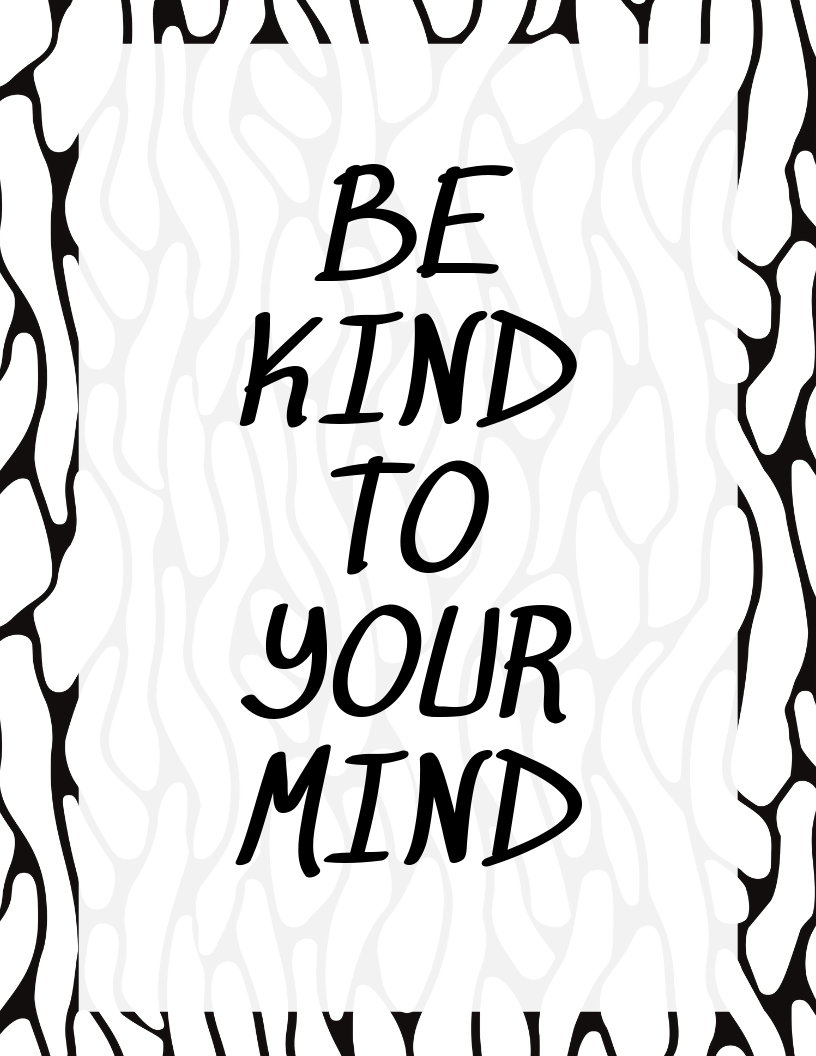photograph about Free Printable Black and White Images named Black and White Optimistic Estimates Free of charge Printables