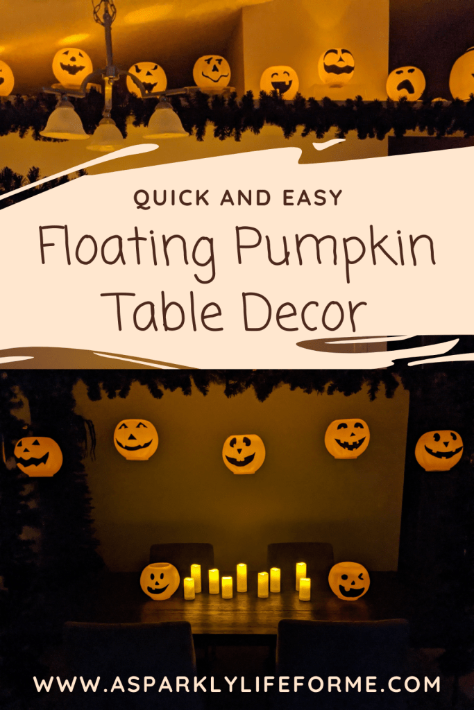 Quick and Easy Floating Pumpkin Jack O Lantern Halloween Table Decor