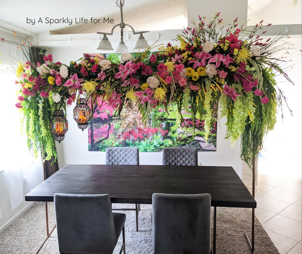 DIY Floral Arch Table Decor inspired by the Featherington's of Bridgerton