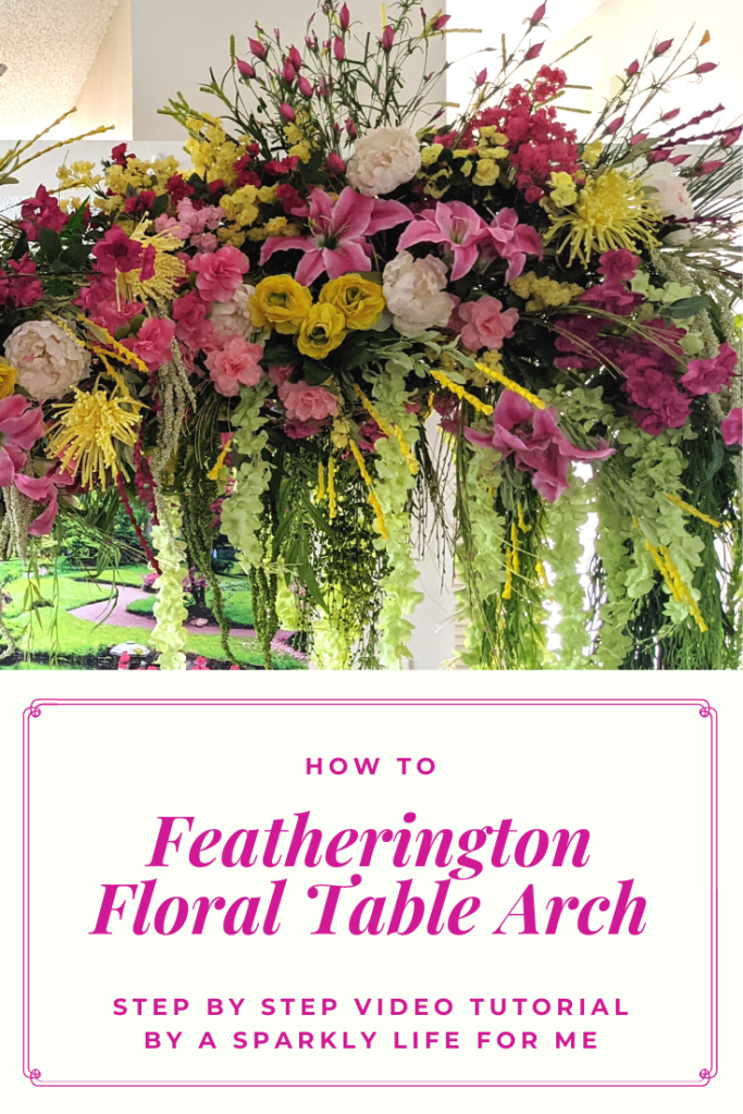 DIY Floral Arch with Silk Flowers for a Featherington Inspired Dinner Party at Home - Bridgerton Home Decor