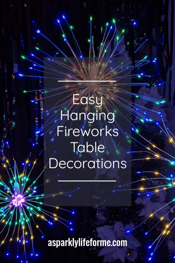 Quick and Easy Hanging Fireworks Table Decorations