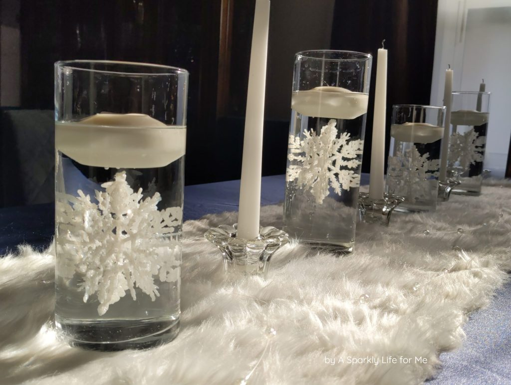 Floating Snowflake Centerpiece for Christmas