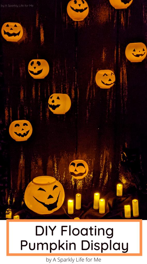 DIY Floating Pumpkin Display - with plastic pumpkins!