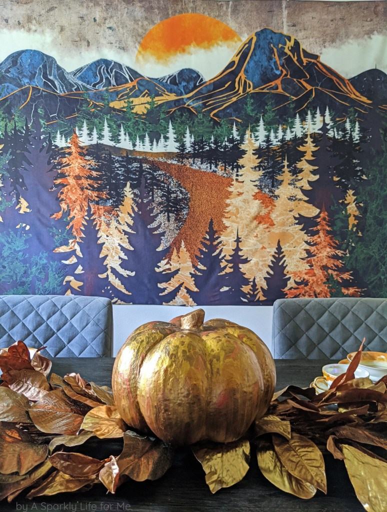 Quick and Easy Metallic Fall Centerpiece