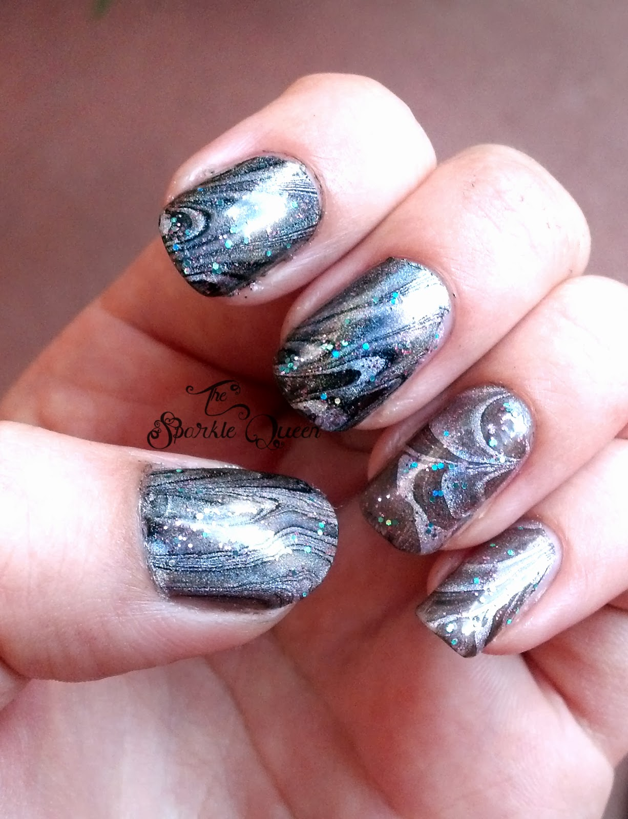 Holo Water Marble Nail Art For The Hepicksmypolish October