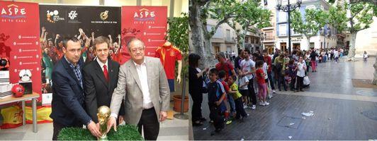 La Copa del Mundo en el Ayuntamiento de Aspe