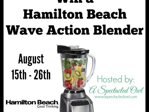 Hamilton Beach Wave Action Blender - Review & Giveaway