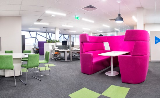 Range of work settings for flexible working styles - collaboration booth