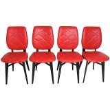 chaise skaï matelassé année 50 vintage