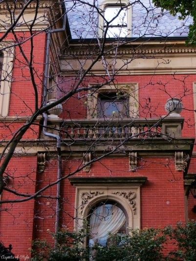 building on Commonwealth Avenue, Back Bay Boston