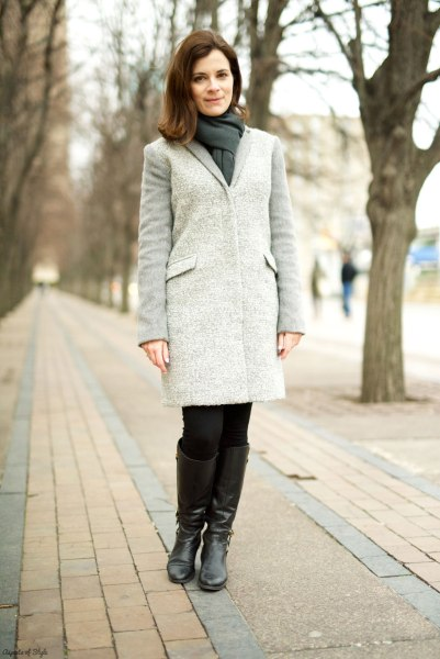 grey coat by Armani Xchange