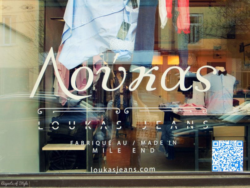 Loukas Jeans at Mile End, Montreal