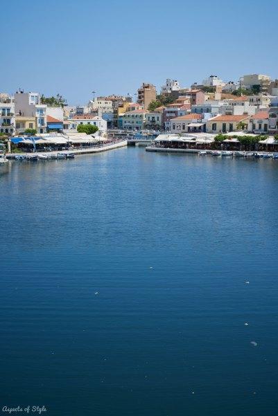 Agios Nikolaos lake, Crete, Greece