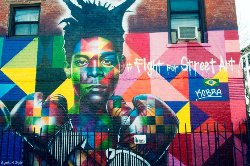 Street art in Williamsburg, New York