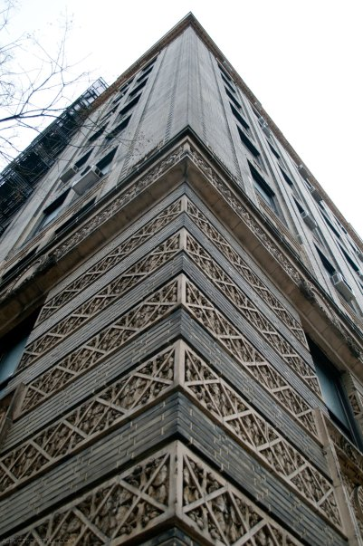 decorative architectural detail on Upper West Side, New York City