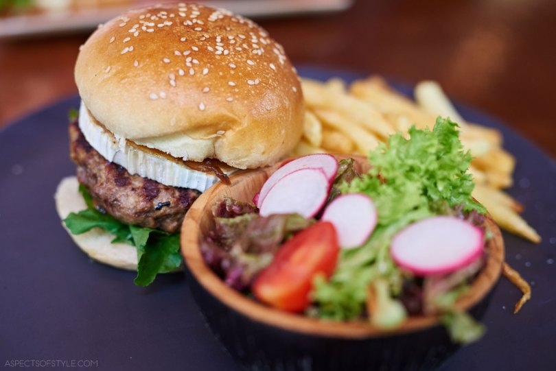 burger for brunch at Mama Roux Athens