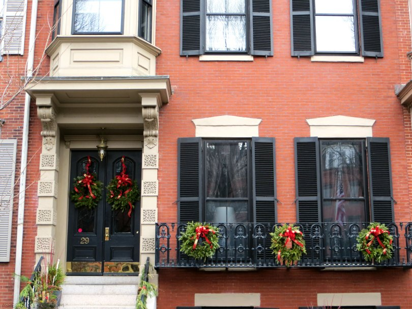 Christmas decorations in South End, Boston