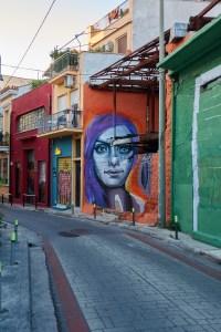 Achilles street artist in Athens