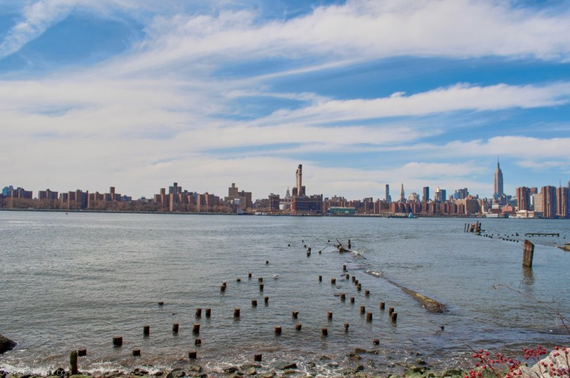views of Manhattan from Williamsburg