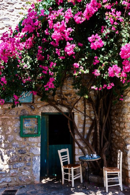 cafe in Areopoli, Mani, Peloponnese, Greece