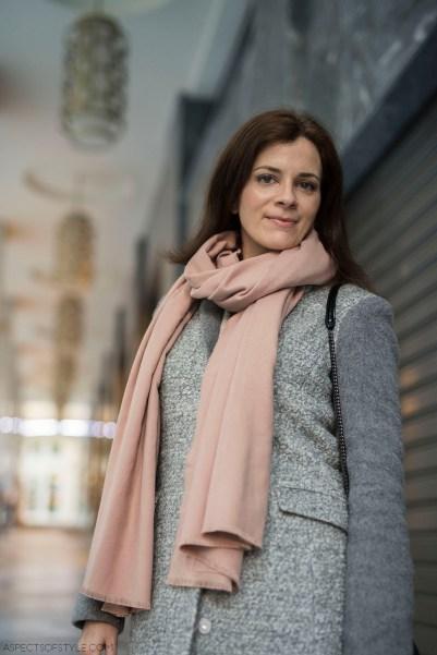 Zara scarf, Armani Xchange coat