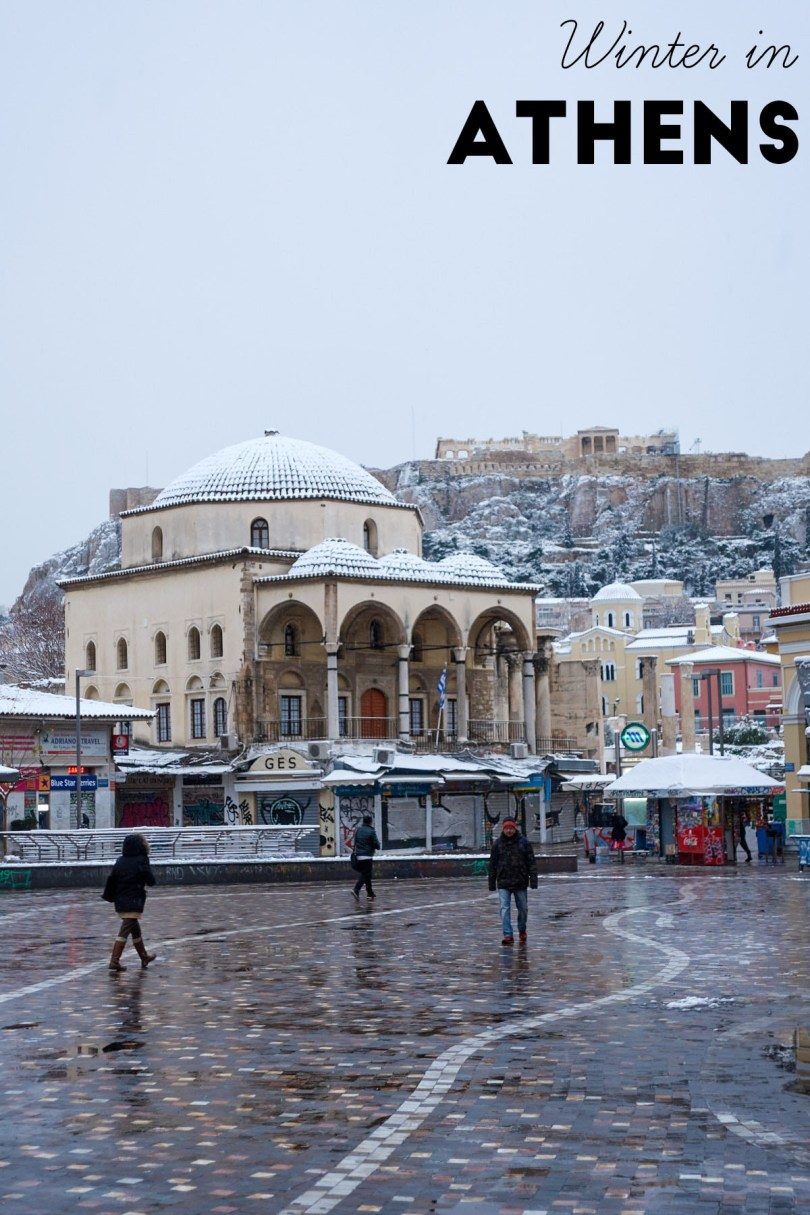Winter in Athens | Monastiraki square