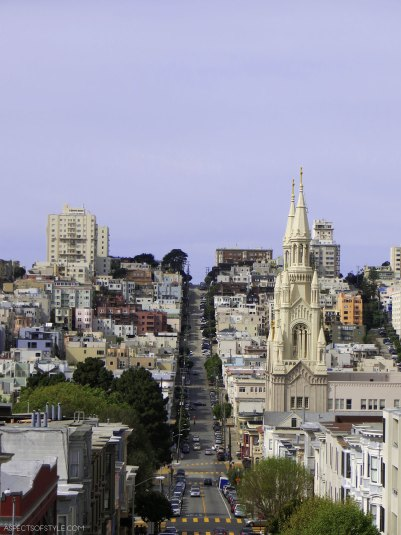 View from Filbert steps, San Francisco
