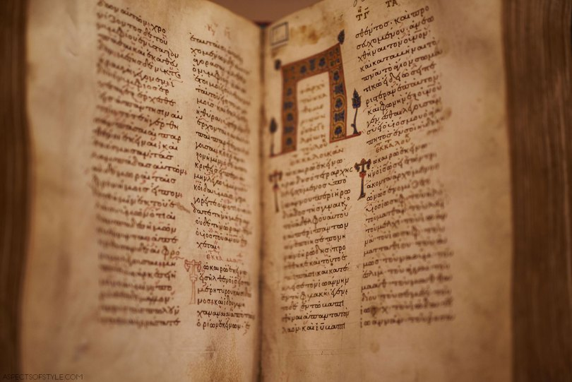 book from the Byzantine and Christian museum in Athens