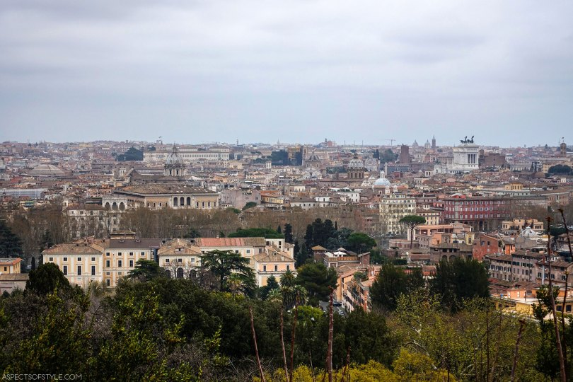 View from Gianicolo park, Trastevere Rome