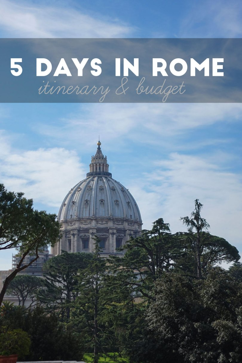 5 Day Rome Itinerary and budget