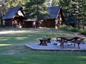 Cabin accommodation at Aspengrove Country Resort Vernon BC Canada