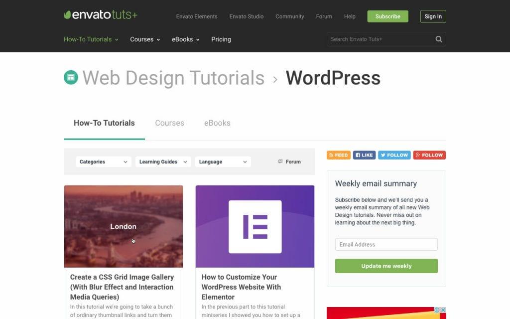 Envato Tuts Tuts + didacticiels WordPress