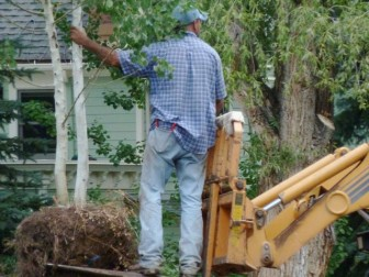 If someone is working hard in Aspen's West End with a shovel or a wheelbarrow or a piece of heavy equipment, there is a high likelihood they are Latino.